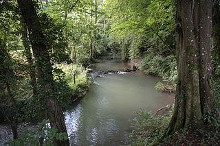 Aubetin River in France