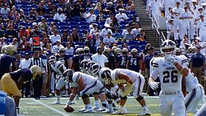 Fordham Rams football - Fordham vs. Navy at Navy-Marine Corps Memorial Stadium, 2016.