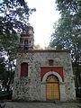 Fachada de la Capilla de San Lorenzo Mártir en la Ciudad de México.JPG