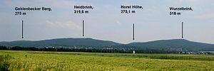 Wiehen Hills - Southern view near Lübbecke