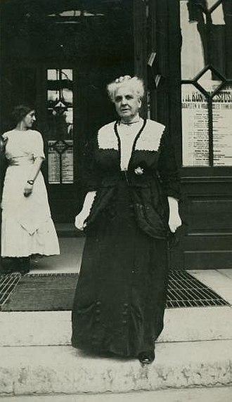 Fanny Garrison Villard - Fanny Garrison Villard at the International Woman Suffrage Congress, Budapest, 1913.