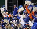 Fans hold up Noah Syndergaard Fatheads (22415666677).jpg