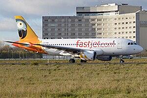 Fastjet Tanzania - Fastjet Tanzania Airbus A319 at Paris-Charles de Gaulle Airport