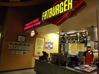 Fatburger - Fatburger in the food court of Morongo Casino, Resort & Spa, Cabazon, California