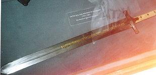 Fatih'in 1451-1481 yılları arasında kullandığı kılıcı,Topkapı müzesi-İstanbul.