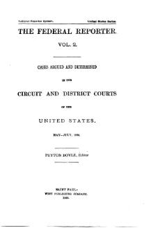 Federal Reporter, 1st Series, Volume 2.djvu