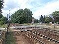 Felsőgöd train stop, Ady Road level crossing, 2020 Göd.jpg