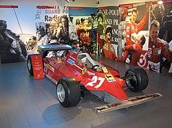 ジル・ヴィルヌーヴがドライブした126CK。フロントウイングから、後期型であることがわかる