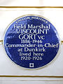 Field Marshal VISCOUNT GORT VC 1886-1946 Commander-in-Chief at Dunkirk lived here 1920-1926.jpg