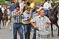 Fiestas Patrias Parade, South Park, Seattle, 2015 - 247 - horses and band (21570337016).jpg