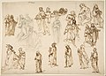 Figure Studies- Standing and Kneeling Clerics and Religious, Adam and Eve, and a Reclining Skeleton MET DP812813.jpg