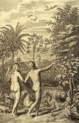 Figures Adam and Eve were both naked & were not ashamed
