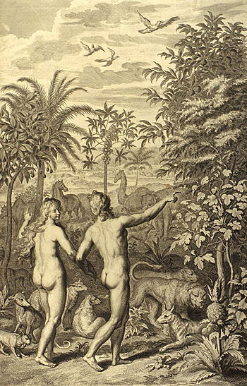 English: Adam and Eve were both naked & were n...