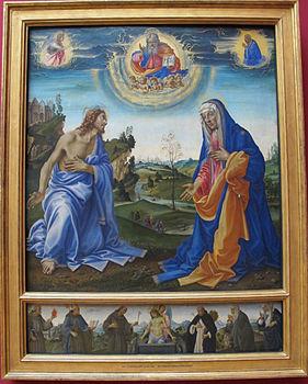 Filippino lippi, Apparizione di Cristo alla Madonna 01.JPG