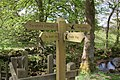Fingerpost, Wycoller - geograph.org.uk - 1282369.jpg