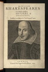 William Shakespeare: English: Mr. William Shakespeares Comedies, Histories, & Tragedies or The First Folio