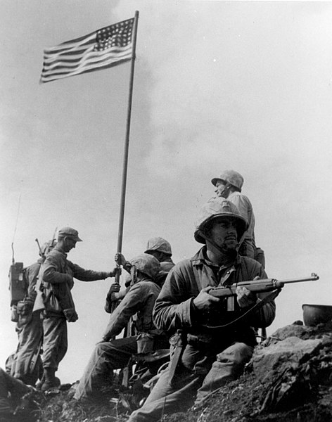 File:First Iwo Jima Flag Raising.jpg