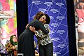 First Lady Michelle Obama Embraces 2014 IWOC Awardee Beatrice Mtetwa of Zimbabwe (12935569955).jpg