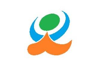Kami-Amakusa - Image: Flag of Kami amakisa Kumamoto white version