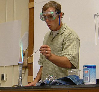 Analytical chemistry - The presence of copper in this qualitative analysis is indicated by the bluish-green color of the flame