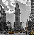 Flatiron Building NYC up front (from Broadway and 5th Avenue) in Color Splash.jpg