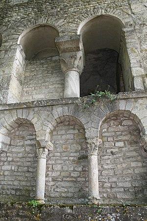 Flavigny Abbey - Elevations of the Carolingian crypt
