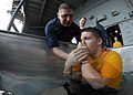 Flickr - Official U.S. Navy Imagery - A Sailor is baptized at sea..jpg