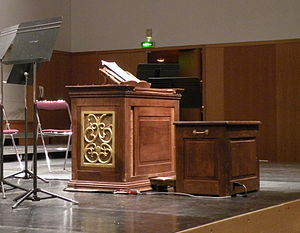 Positive organ - Chest, or box, organ used during La Folle Journée, 2009