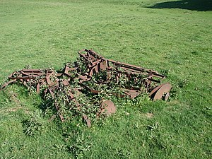 English: Forgotten Farm Implements Deserted Ma...