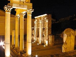 Roman forum in Mérida, Spain