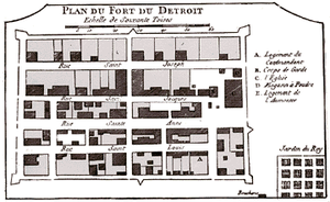 Fort Detroit - Fort Detroit in 1763