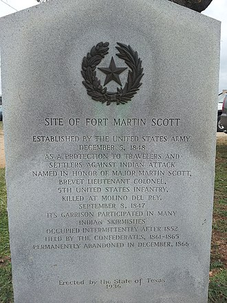Fort Martin Scott - Image: Fort Martin Scott