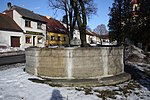 Fountain in Kamenice, Jihlava District.jpg