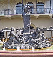 Fountain Of Bacchus, W. 47th Street At Chandler Court In The Plaza. The  Main Sculpture Is Made Of 10,000 Lb (4,500 Kg) Of Cast Lead.