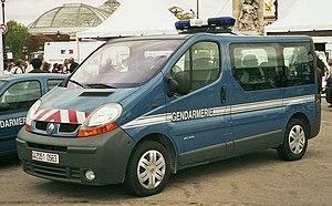Departmental Gendarmerie - Renault Trafic Gendarmerie van