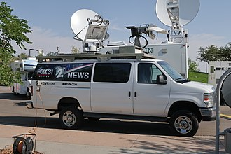 KDVR - A KDVR and KWGN-TV outside broadcasting van in Casper, Wyoming during the 2017 total solar eclipse