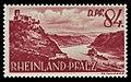 Fr. Zone Rheinland-Pfalz 1948 28 Pfalz bei Kaub, Burg Gutenfels.jpg