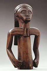 Fragment of a male statue of the Tabwe people
