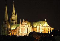 France Eure et Loir Chartres Cathedrale nuit 02.jpg