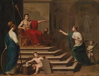 Francesco Alberi - Allegory of Napoleon as Liberatory of Italy (c. 1800)