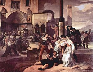 Sicilian Vespers (1846), by Francesco Hayez.