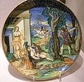 Francesco xanto avelli, piatto con cefalo che uccide procis, urbino, 1533.JPG