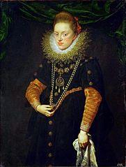 Erzherzogin Konstanze (1588-1631), Königin von Polen in schwarzem Kleid