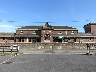 Fredericksburg station - The old RFP station building is currently occupied by The Bavarian Chef restaurant