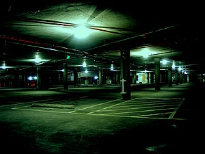 Multi-storey car park - The inside of a multi-storey car park