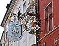 Freiburg Gasthof zum Kranz Schild.jpg