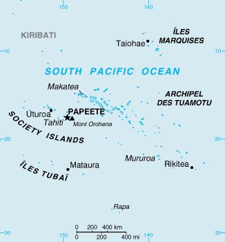 French Polynesia-CIA WFB Map