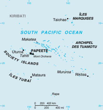 Austral Islands - Image: French Polynesia CIA WFB Map