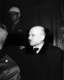 Fritz Sauckel tijdens het Proces van Neurenberg