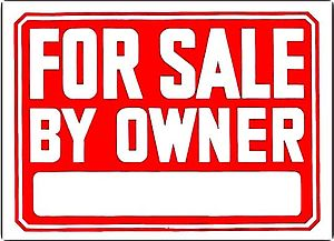 "A tablet with the phrase ""For sale by own..."